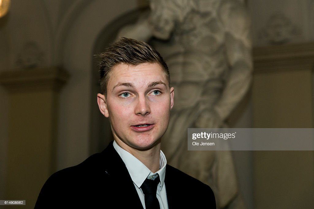 Bronze winner Viktor Axelsen (badminton, single) attends a reception hosted by Queen Margarethe of Denmark for the Danish Olympic and Para-Olympic Teams at Christiansborg on October 14, 2016 in Copenhagen, Denmark.