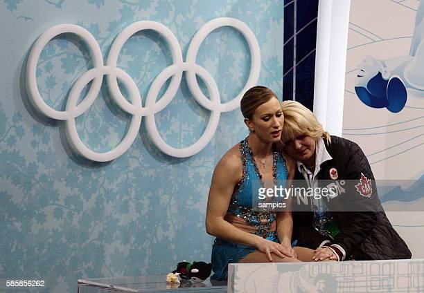 Bronzemedaillengewinnerin Joannie Rochette Olympische Winterspiele 2010 in Vancouver Eiskunstlauf Damen Kur Olympic Winter Games 2010 Figure skating...