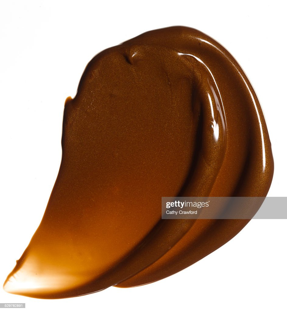 bronzer product smear : Stock Photo