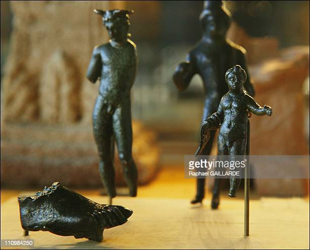 Bronzes display: Jupiter, Taramis at The Gallo-Roman Museum in Perigueux, France in September, 2003.