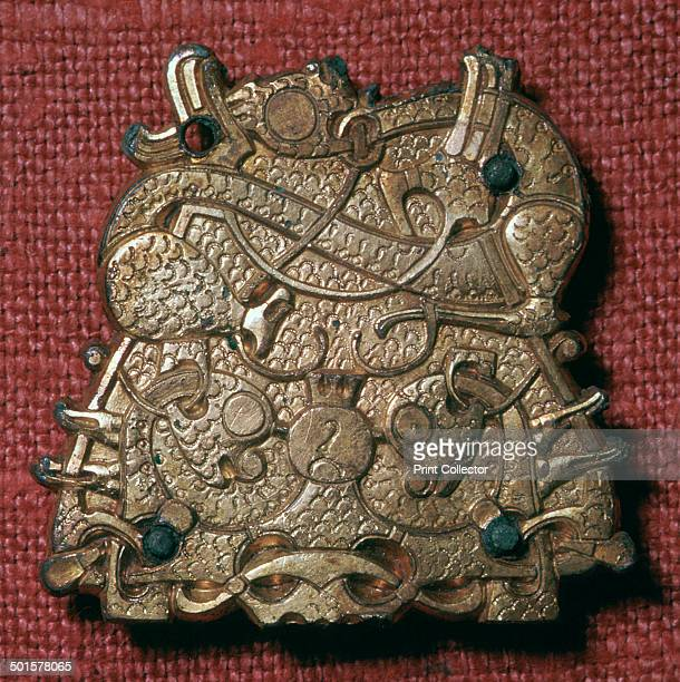 A brooch from a Viking grave in Sweden now in the Museum of National Antiquities' collection in Stockholm 9th century