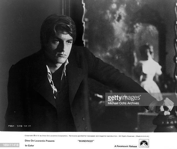 A brooding Perry King in a scene from the film 'Mandingo' 1975