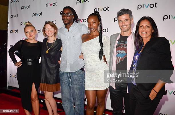 "Brook Barnett, Belsia Balaban, Creep Evans, Jayda Jacques, Evan Shapiro and Maggie Voelkel attend ""Jersey Strong"" Series New York Premiere at Tribeca..."