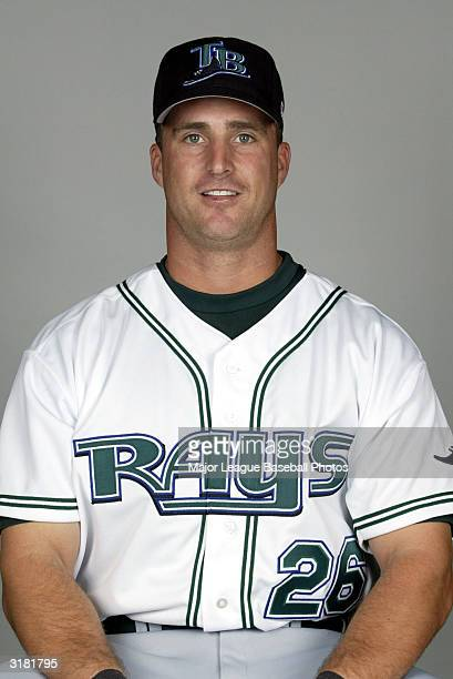 Brook Fordyce of the Tampa Bay Devil Rays poses for a portrait on February 23 2004 in St Petersburg Florida