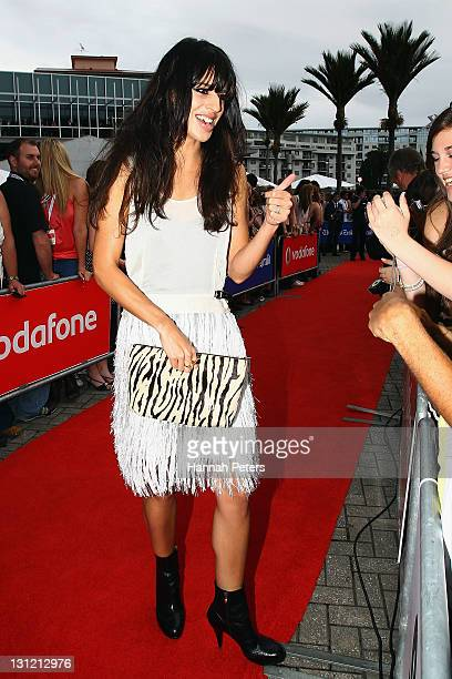 Brook Fraser arrives for the 2011 Vodafone Music Awards at Vector Arena on November 3 2011 in Auckland New Zealand