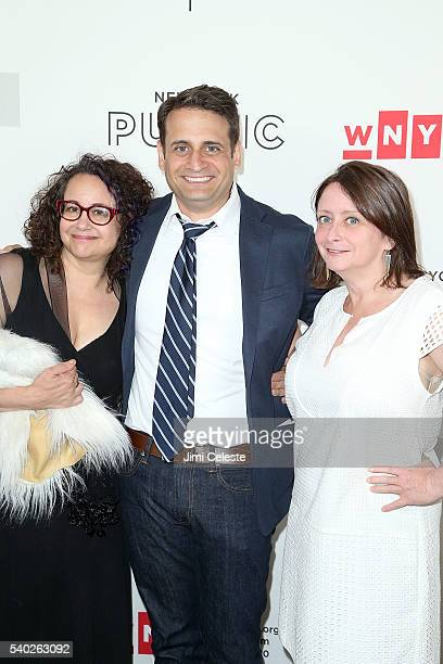 Brook Gladstone Actor Ed Herbstman Actress Rachel Dratch attending WNYC's Radio Revelry at Tribeca Three Sixty on June 14 2016 in New York City