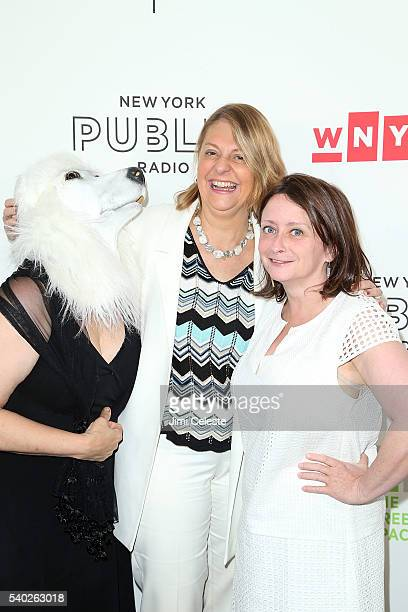 Brook Gladstone NYPR CEO Laura Walker and Actress Rachel Dratch attending WNYC's Radio Revelry at Tribeca Three Sixty on June 14 2016 in New York City