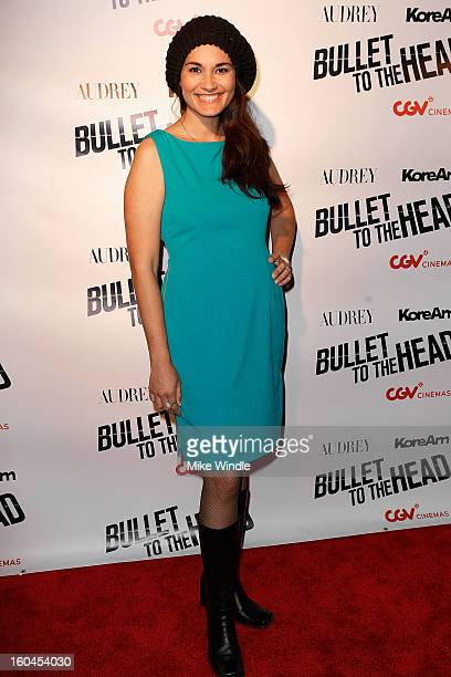Brook Lee attends KoreAm Journal and Audrey Magazine's advanced screening of 'Bullet To The Head' at CGV Cinemas on January 31 2013 in Los Angeles...