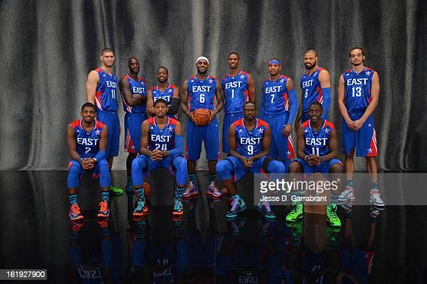 Brook Lopez Kevin Garnett Dwyane Wade LeBron James Carmelo Anthony Tyson Chandler Joakim Noah Kyrie Irving Paul George Luol Deng Jrue Holiday of the...