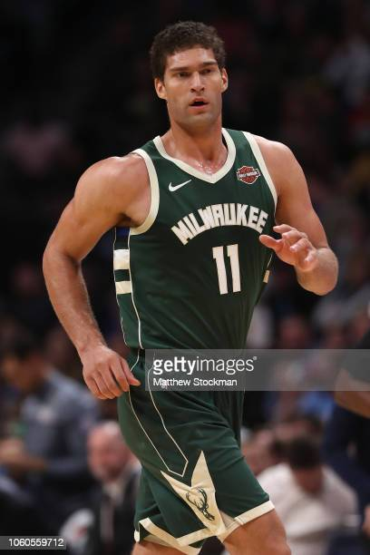 Brook Lopez of the Milwaukee Bucks plays the Denver Nuggets at the Pepsi Center on November 11 2018 in Denver Colorado NOTE TO USER User expressly...