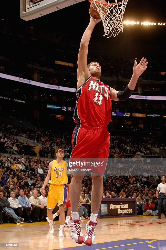 free shipping f4a51 ebac6 Brook Lopez of the New Jersey Nets goes up for a basket ...