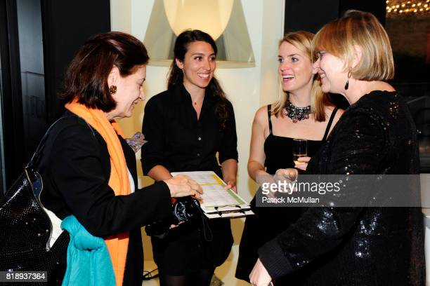 Brook Mason Stephanie Brogan Amanda Kasper and Judy Dobias attend FLOS Private Store Viewing and Dinner at 152 Greene St on May 14 2010 in New York...