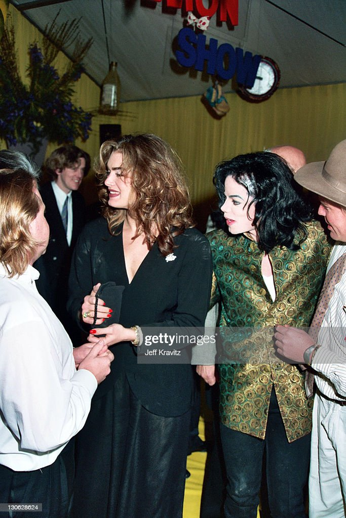 Brook Shields and Michael Jackson