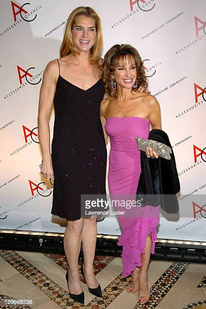 Brook Shields and Susan Lucci during The Accessories Council Presents the 8th Annual Ace Awards at Cipriani 42nd Street in New York City New York...