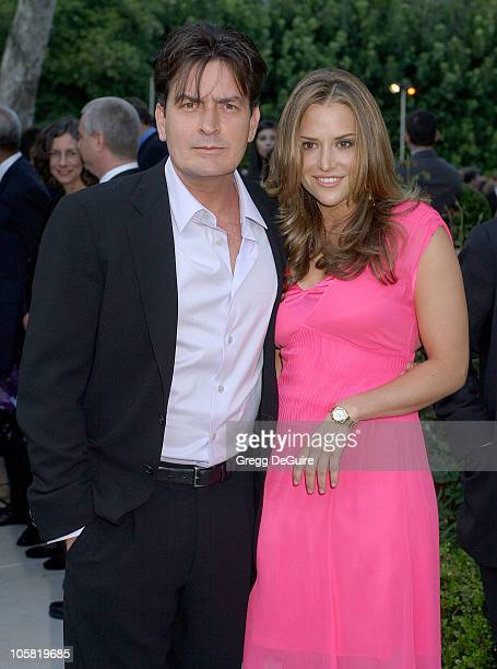 Brook Wolofsky and Charlie Sheen during Chrysalis's 5th Annual Butterfly Ball Arrivals at Italian villa of Carla and Fred Sands in Bel Air California...
