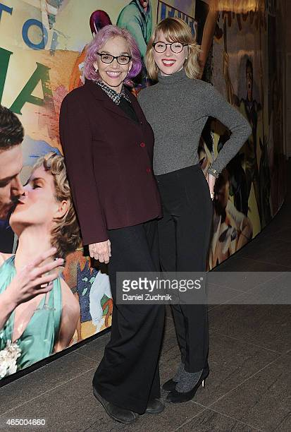 Brooke Adams and Josie Lynn Adams attend The Mystery Of Love Sex Opening Night at Mitzi E Newhouse Theater on March 2 2015 in New York City