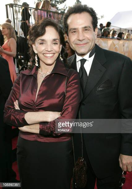 Brooke Adams and Tony Shalhoub 8757_KM1_68jpg during TNT Broadcasts 11th Annual Screen Actors Guild Awards Red Carpet at Shrine Auditorium in Los...