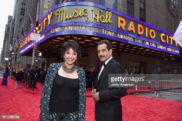 Brooke Adams and Tony Shalhoub attend the 72nd Annual Tony Awards at Radio City Music Hall on June 10 2018 in New York City