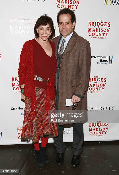Brooke Adams and Tony Shalhoub attend the production of 'The Bridges Of Madison County' at Gerald Schoenfeld Theatre on February 19 2014 in New York...