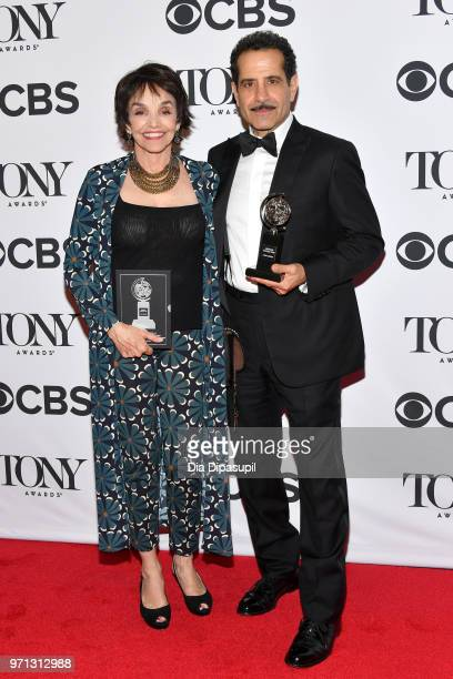 Brooke Adams and Tony Shalhoub winner of the award for Best Performance by an Actor in a Leading Role in a Musical for The Band's Visit poses in the...