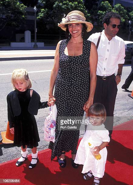 Brooke Adams Tony Shalhoub and daughters Josie and Sophie