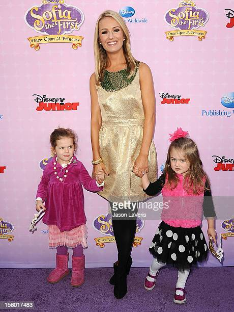 Brooke Anderson attends and children the premiere of 'Sofia The First Once Upon a Princess' at Walt Disney Studios on November 10 2012 in Burbank...