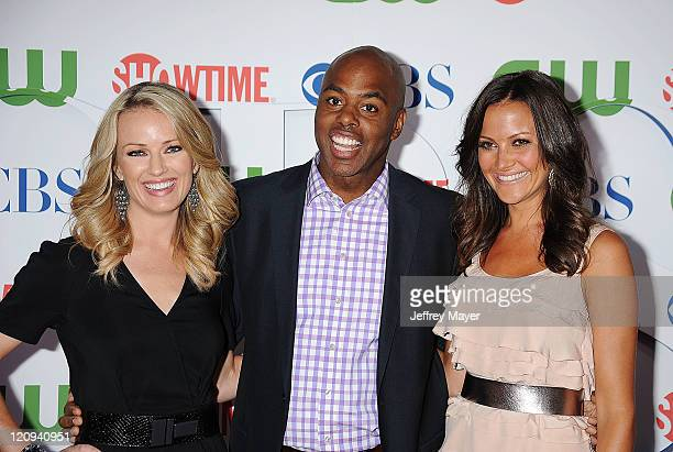 Brooke Anderson Kevin Frazier and Chistina McLarty arrive at the TCA Party for CBS The CW and Showtime held at The Pagoda on August 3 2011 in Beverly...