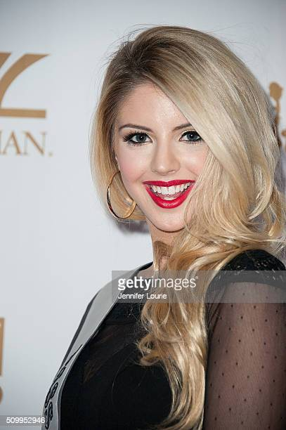 Brooke Ashlynn arrives at the OK Magazine's Annual Pre GRAMMY Party at Lure on February 12 2016 in Hollywood California