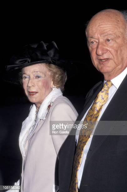 Brooke Astor and Ed Koch during The Four Seasons Restaurant Celebrates Its 40th Anniversary at Four Seasons Restaurant in New York City New York...