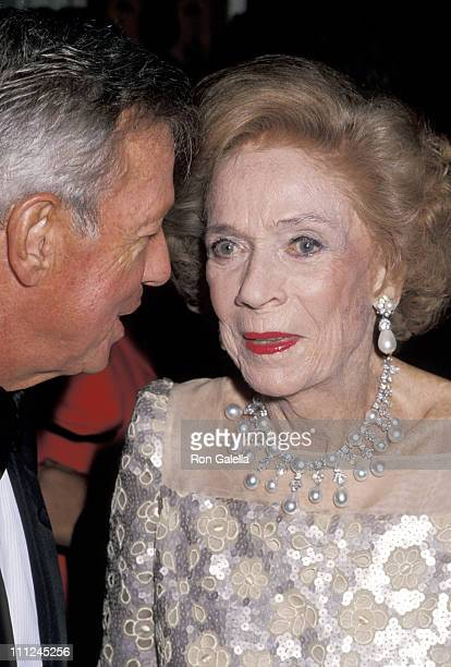 Brooke Astor and guest during 2nd Annual Channel 13 WNET Gala at Plaza Hotel in New York City New York United States