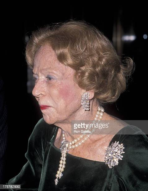 Brooke Astor attends Royal Oak Foundation Benefit Gala on March 1 1999 at the Equitable Center in New York City