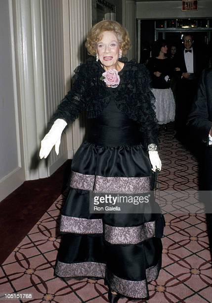 Brooke Astor during 1987 Annual New York Hospital Gala Benefit at Waldorf Astoria in New York City New York United States