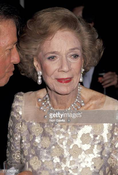 Brooke Astor during 2nd Annual Channel 13 WNET Gala at Plaza Hotel in New York City New York United States