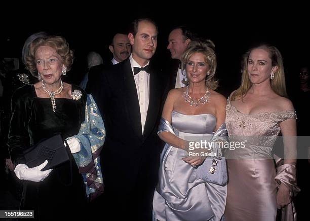 Brooke Astor Prince Edward Earl of Wessex Kathy Hilton and Anne Hearst attend The Royal Oak Foundation Benefit Gala on March 1 1999 at the Equitable...