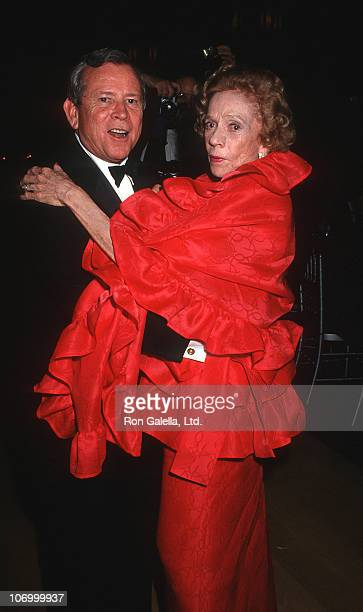 Brooke Astor right and guest during Forbes Magazine's 70th Anniversary Celebration at Timberland Estate in Far Hills New Jersey United States
