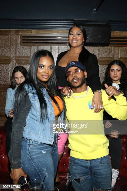 Brooke Bailey Rah Ali and Eric Bellinger Attend The Eric Bellinger Grammy Week Lounge Lounge at Suite 36 on January 23 2018 in New York City