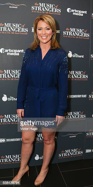 Brooke Baldwin attends a special screening of The Music of Strangers YoYo Ma and The Silk Road Ensemble at Cinema 1 2 3 on June 6 2016 in New York...