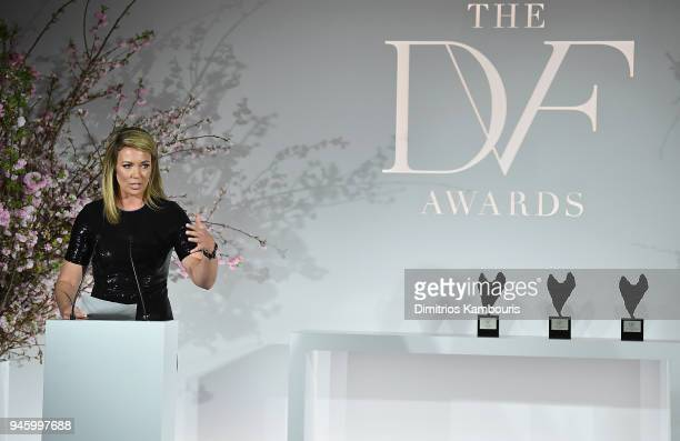 Brooke Baldwin attends The 2018 DVF Awards at United Nations on April 13 2018 in New York City