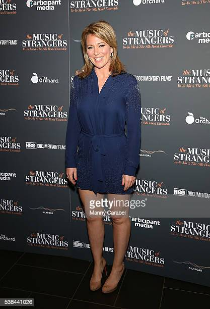 Brooke Baldwin attends The Music of Strangers New York screening at Cinema 1 2 3 on June 6 2016 in New York City