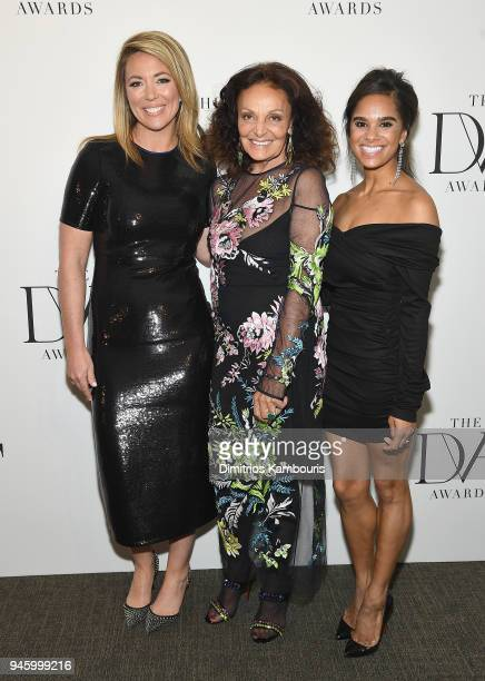 Brooke Baldwin Diane Von Furstenberg and Misty Copeland attend The 2018 DVF Awards at United Nations on April 13 2018 in New York City