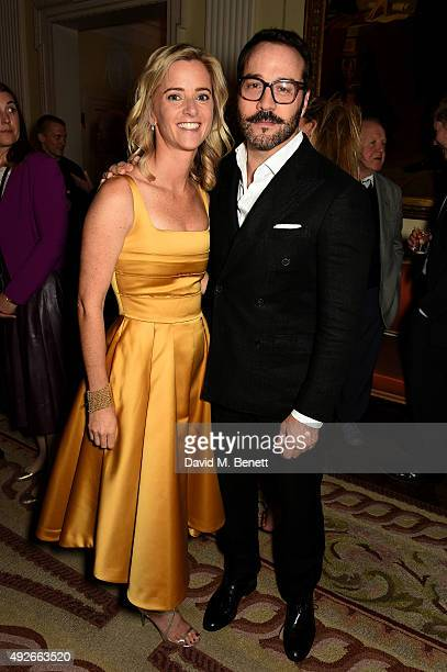 Brooke Barzun and actor Jeremy Piven attend The Academy Of Motion Pictures Arts Sciences new members reception hosted by Ambassador Matthew Barzun...