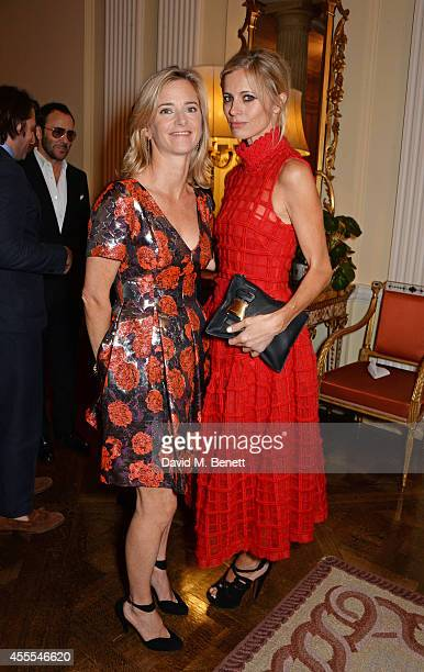 Brooke Barzun and Laura Bailey attend as Ambassador Barzun Mrs Brooke Barzun and Alexandra Shulman celebrate London Fashion Week at Winfield House in...