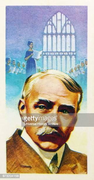 Brooke Bond collectors tea card depicting Sir Edward William Elgar 1st Baronet OM GCVO was an English composer