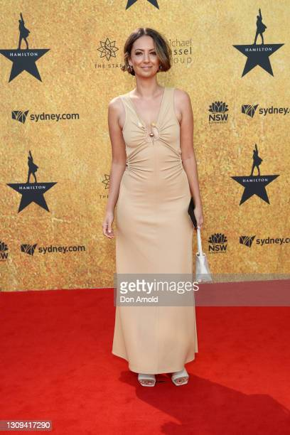 Brooke Boney attends the Australian premiere of Hamilton at Lyric Theatre, Star City on March 27, 2021 in Sydney, Australia.