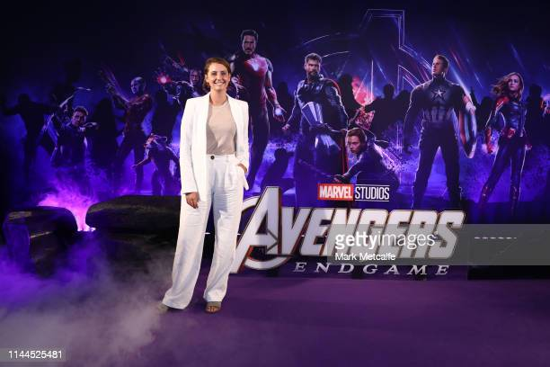 Brooke Boney attends the Sydney screening of Avengers End Game at Hoyts Entertainment Quarter on April 23 2019 in Sydney Australia