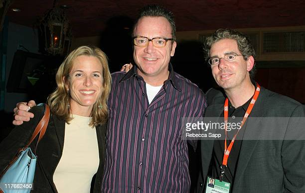 Brooke Bowman of ABC Family Tom Arnold and Jeff Schenck president of Regent Studios