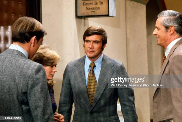 Brooke Bundy Lee Majors Arthur Hill appearing in the ABC tv series 'Owen Marshall Counselor at Law' episode 'Some People in a Park'
