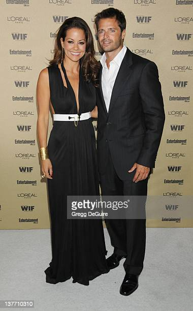 Brooke Burke and David Charvet arrive at the Entertainment Weekly and Women In Film PreEmmy Party at the Restaurant at the Sunset Marquis Hotel on...