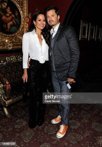 Brooke Burke and husband David Charvet attend Vegas Magazine's after party for Michael Jackson THE IMMORTAL by Cirque du Soleil premiere at the House...