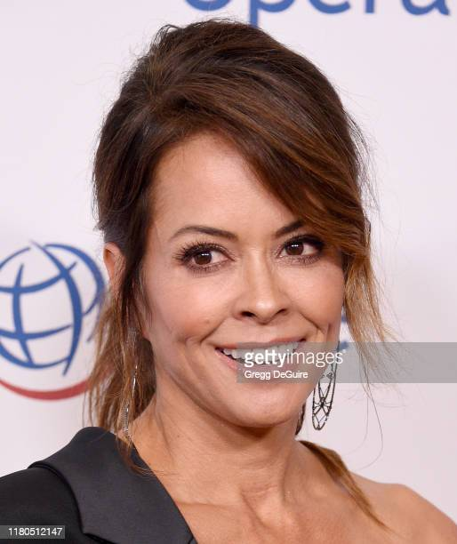 Brooke Burke arrives at Operation Smile's Hollywood Fight Night at The Beverly Hilton Hotel on November 6, 2019 in Beverly Hills, California.